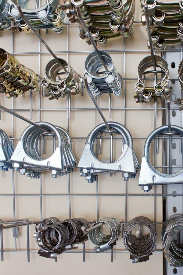 Clips de boyau en métal. photos libres de droits