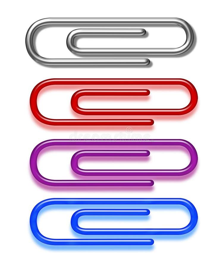 Clips de papel ilustración del vector