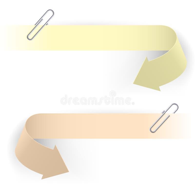 Clips et flèches illustration de vecteur