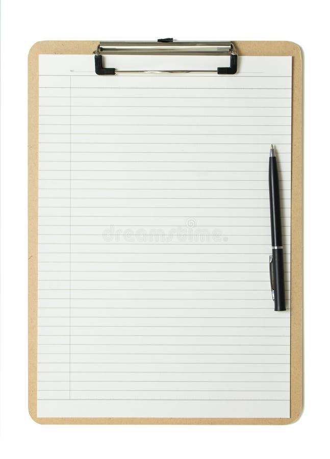 Cliqboard с ручкой шарика стоковые изображения rf