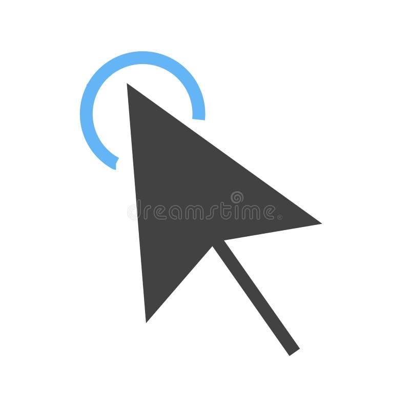 Clique, ícone do rato ilustração do vetor