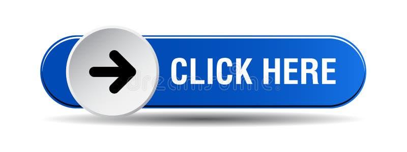 Clique aqui o azul do botão ilustração royalty free
