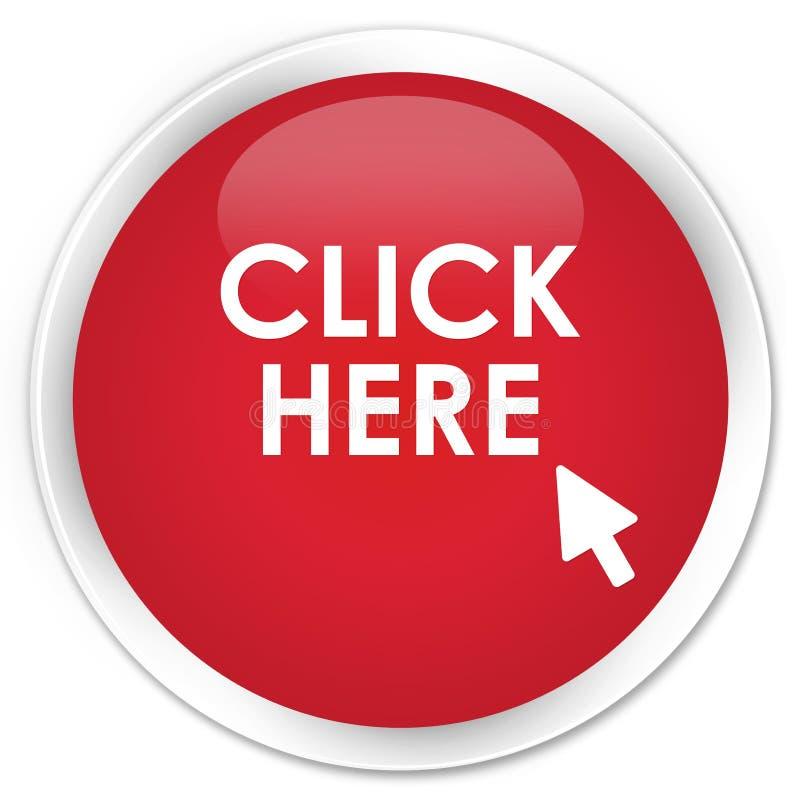 Clique aqui o botão redondo vermelho superior ilustração royalty free