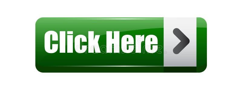 Clique aqui o verde do botão ilustração do vetor