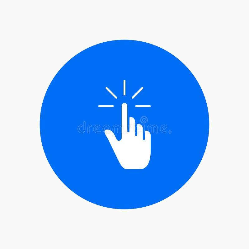 Clique, dedo, gesto, gestos, mão, torneira ilustração royalty free