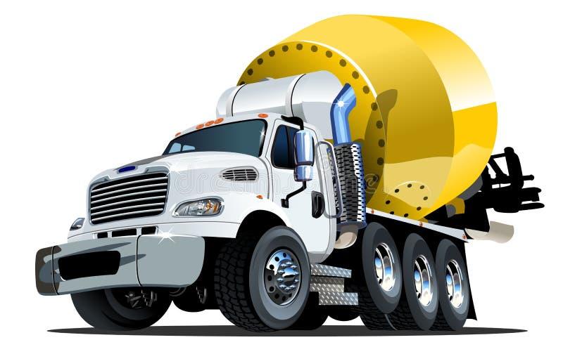 Clique do caminhão um do misturador dos desenhos animados ilustração stock