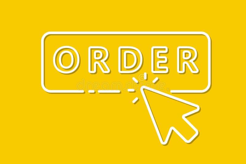 Clique do rato do ícone no botão da compra Vetor ilustração royalty free