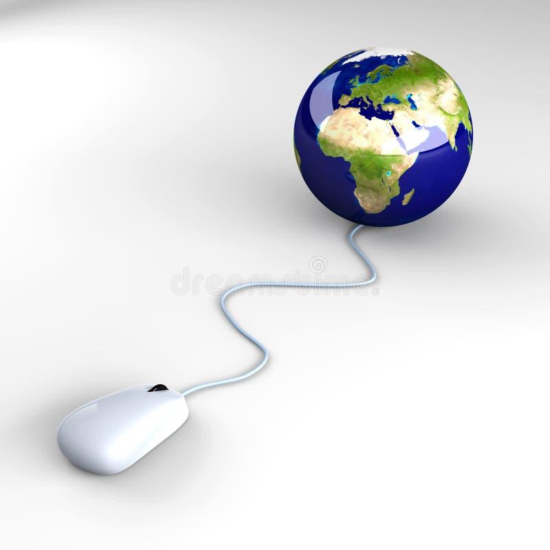 Clique global ilustração stock