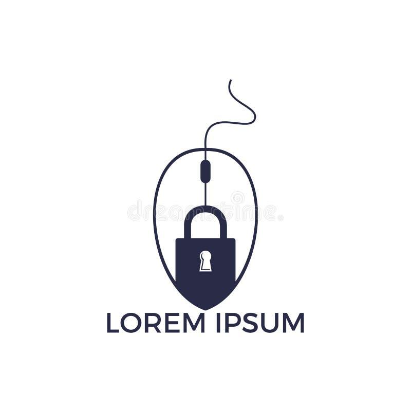 Clique Logo Design do fechamento ilustração stock