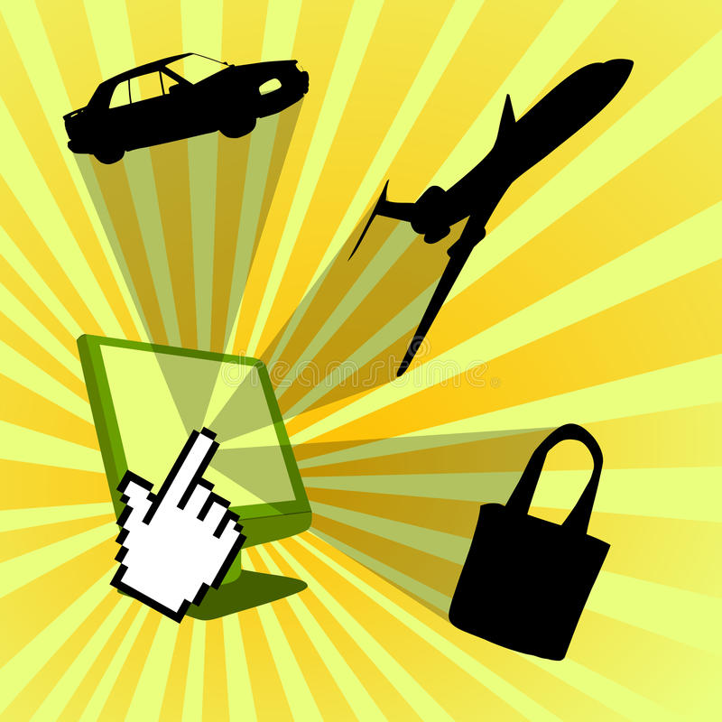 Download Clique Para Comprar O Projeto Da Loja Do Web Ilustração do Vetor - Ilustração de cursor, bens: 10068633