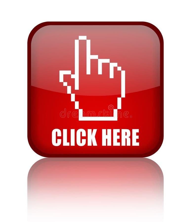 Cliquetez ici le bouton illustration stock