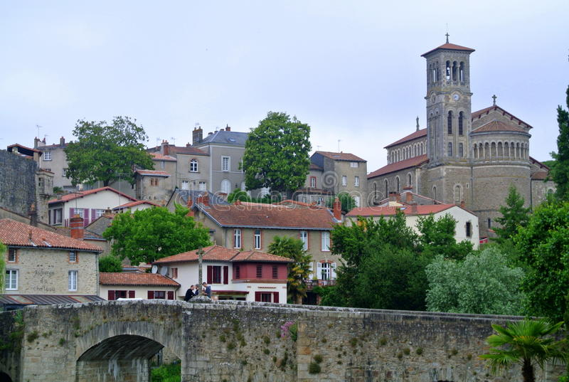 Clisson church Notre Dame, Nantes, France.  royalty free stock photography