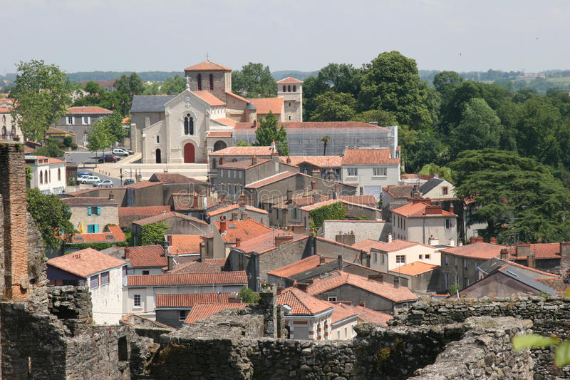 Clisson rooftops royalty free stock image