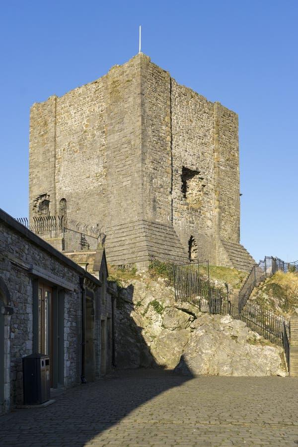 Clitheroe-Schloss halten, Clitheroe lizenzfreies stockbild