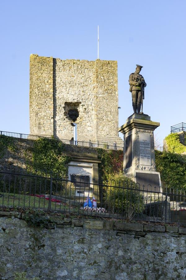 Clitheroe-Schloss halten, Clitheroe lizenzfreie stockbilder