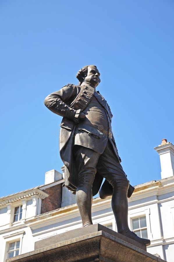 Clive de statue d'Inde, Shrewsbury images libres de droits