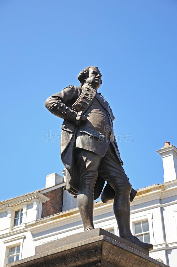 Clive of India Statue, Shrewsbury. royalty free stock images