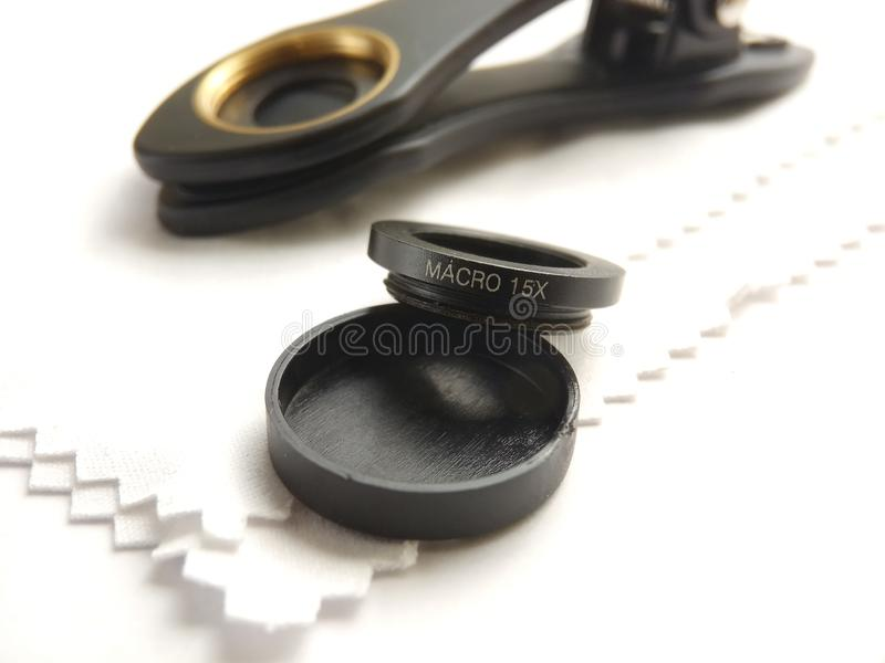 Cllose Up Accessories for Mobile Phone Photography, Macro Lens royalty free stock image
