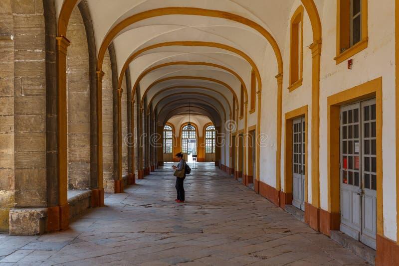 Cloître d'abbaye de Cluny, France image libre de droits