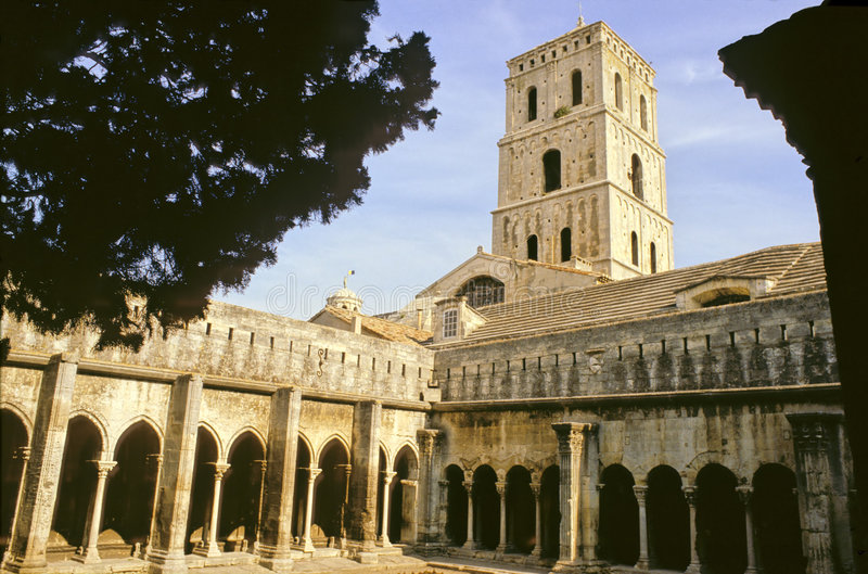 Cloître d'Arles images libres de droits