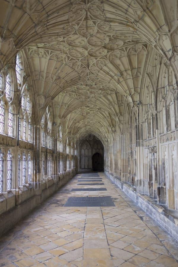 Cloître dans la cathédrale de Gloucester photos libres de droits