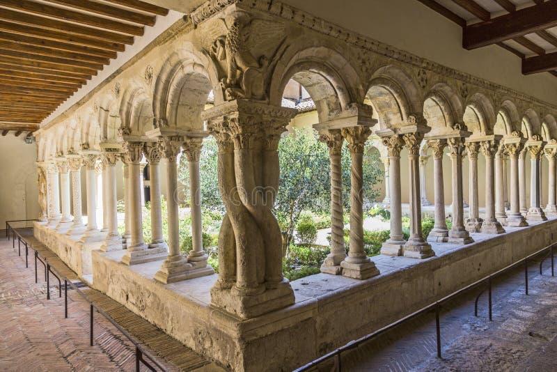 Cloître de cathédrale à Aix-en-Provence photos stock