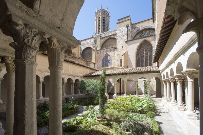 Cloître de cathédrale d'Aix, France photo stock