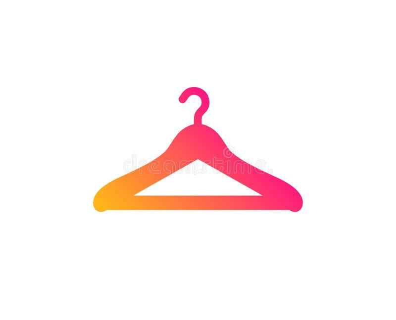Cloakroom icon. Hanger wardrobe sign. Vector vector illustration