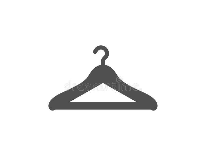 Cloakroom ikona Wieszak garderoby znak wektor royalty ilustracja