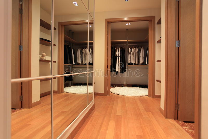 Cloakroom in Luxury Condo in Kuala Lumpur royalty free stock image