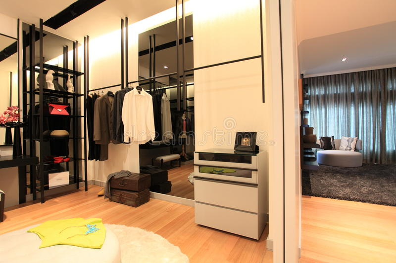Cloakroom in Luxury Condo in Kuala Lumpur royalty free stock images
