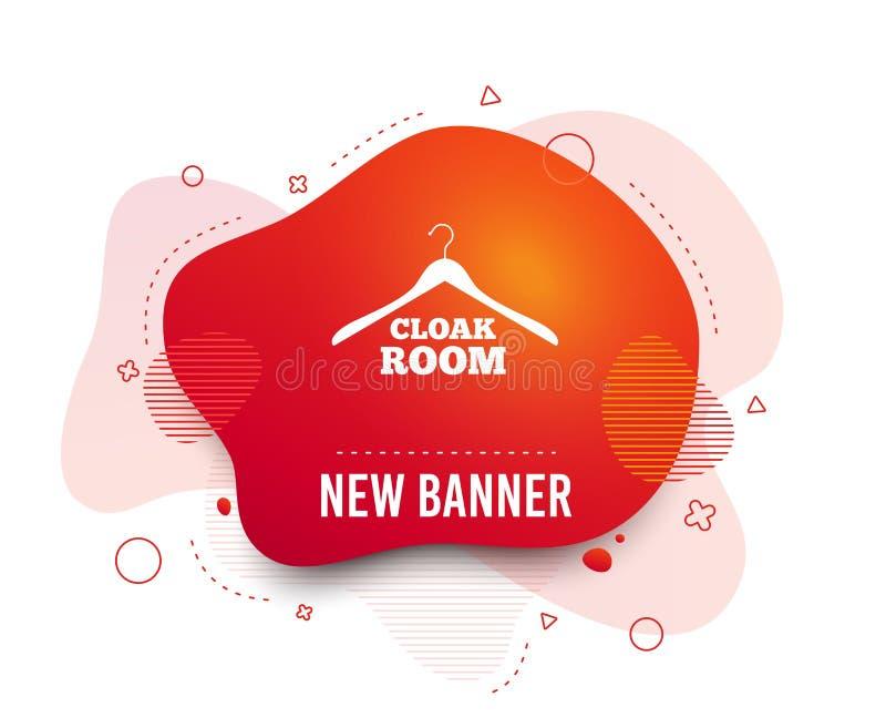Cloakroom sign icon. Hanger wardrobe symbol. Vector royalty free illustration
