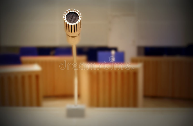 Cloce up of a microphone royalty free stock images