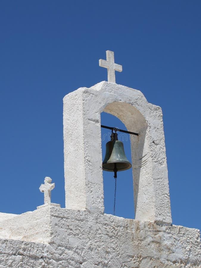 Cloche d'église grecque images libres de droits