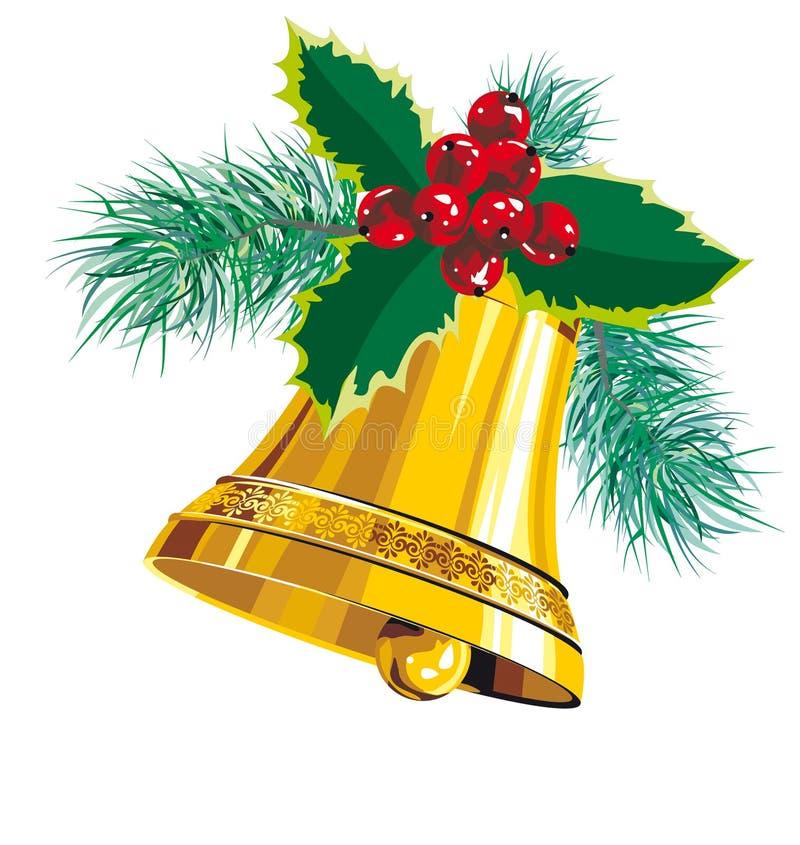 Cloche de Noël illustration stock