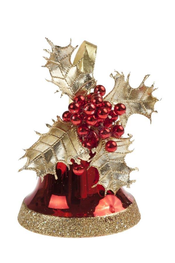 Cloche de Noël rouge images libres de droits