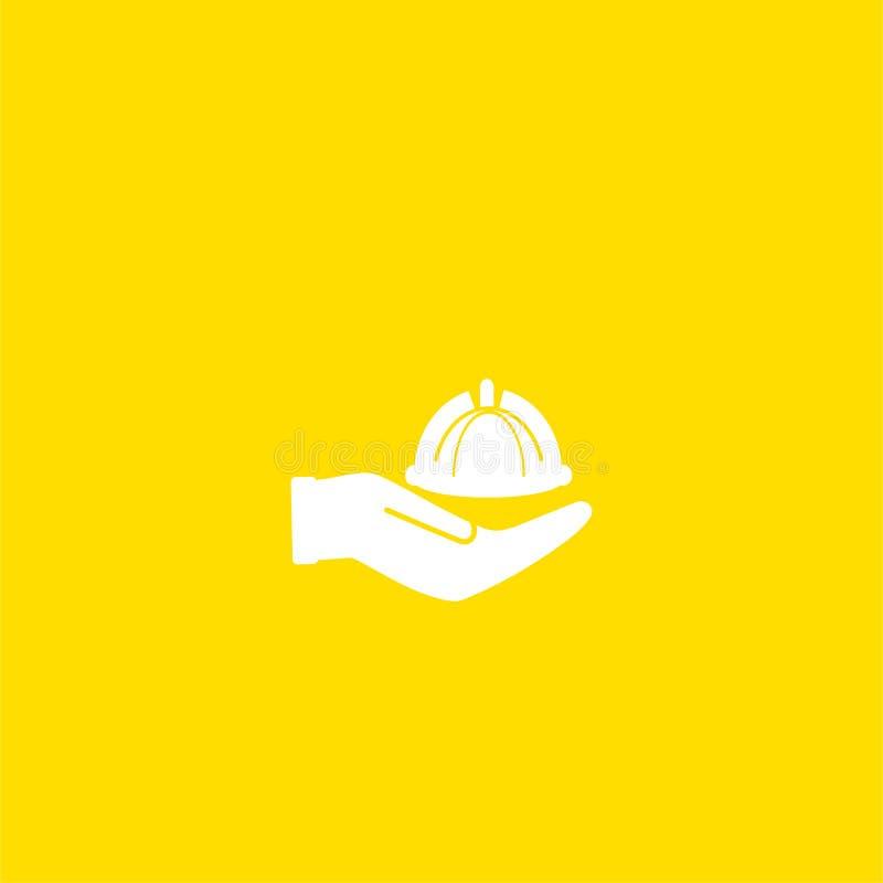 Cloche de restaurant à disposition l'icône de serveur illustration de vecteur