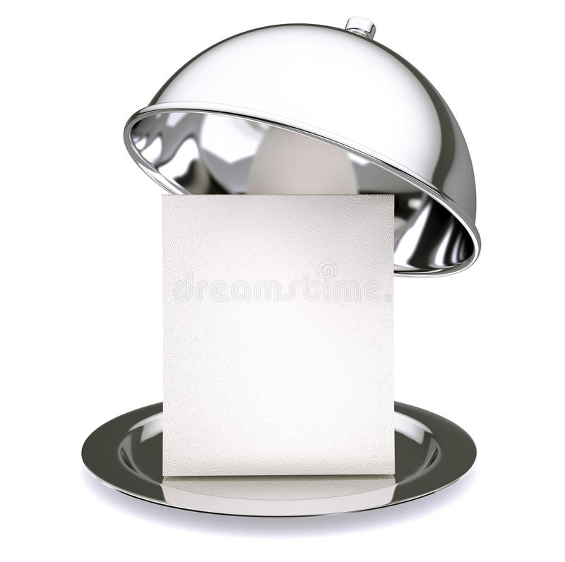 Cloche de restaurant photographie stock libre de droits