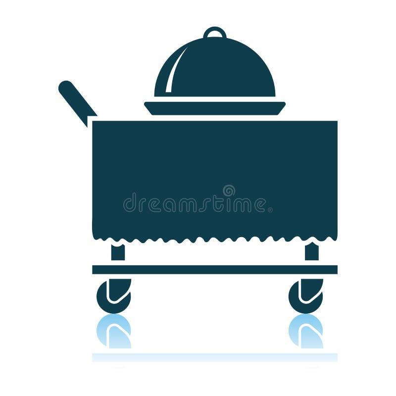 Cloche de restaurant sur fournir l'ic?ne de chariot illustration libre de droits