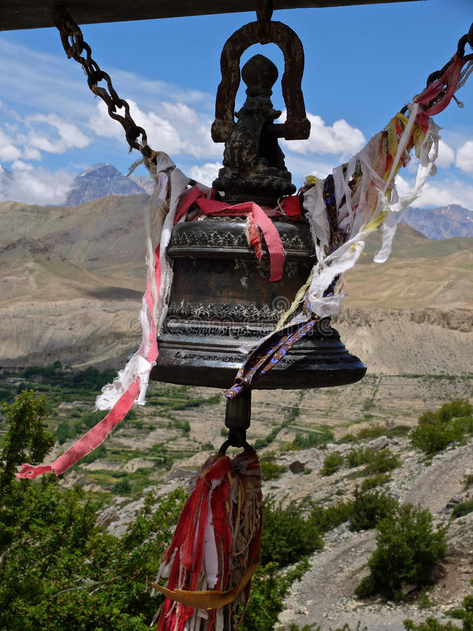 Cloche de temple en Himalaya photos libres de droits