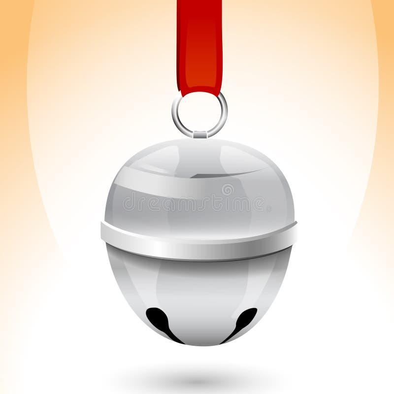 Cloche de traîneau de Noël de vecteur illustration stock