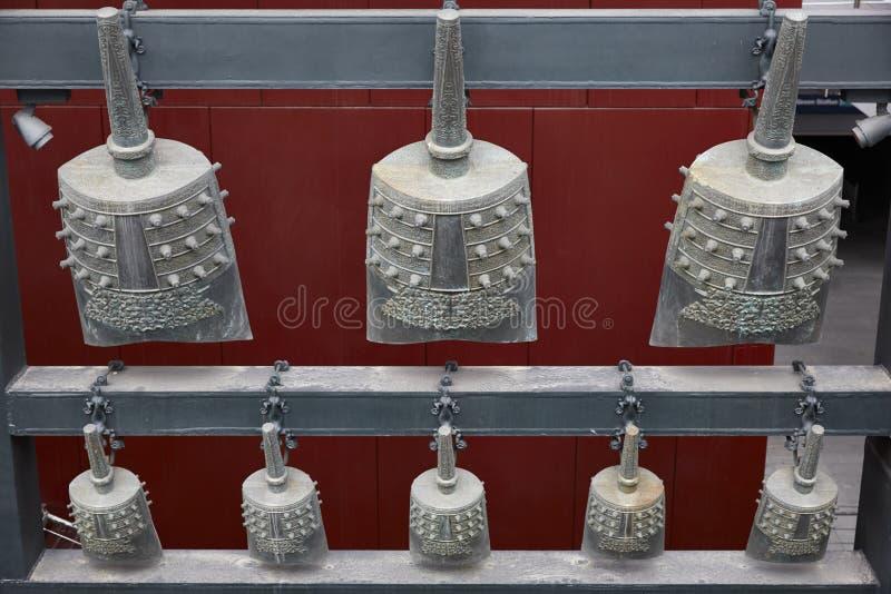 Cloches antiques de carillon de la Chine photos stock