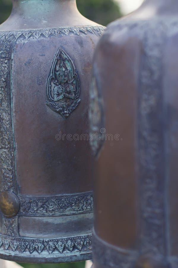 Cloches antiques de temple images stock
