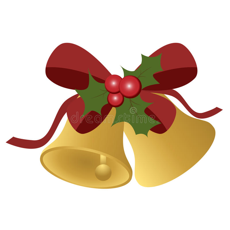 Cloches de Noël illustration libre de droits