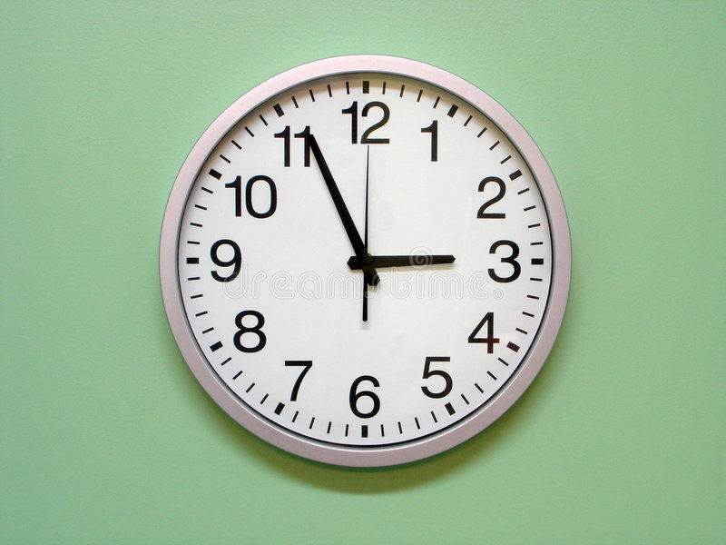 Clock. On the wall
