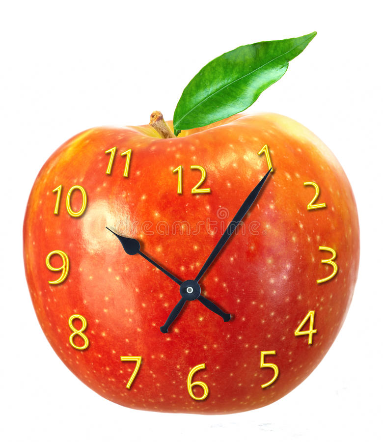 Download Clock stock image. Image of dial, apple, time, numerals - 11281209