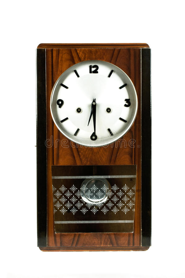 Clock. Old Clock Classic black-brown bell royalty free stock images