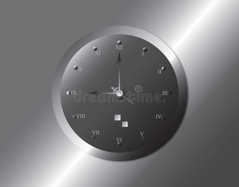 Clock. An illustration of a wall clock. illustration stock illustration