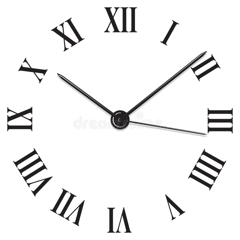 Download Clock stock vector. Image of hour, face, reading, clip - 13258302