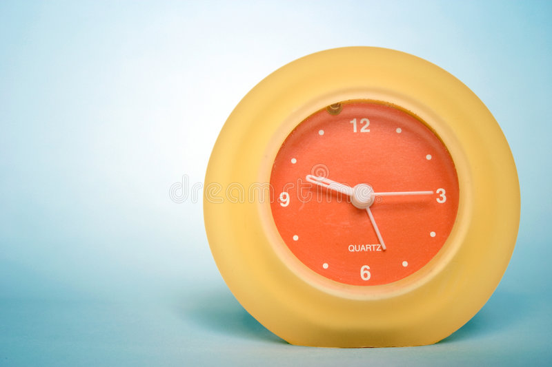 Download Clock stock image. Image of time, clocks, color, orange - 14203